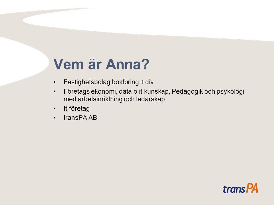 Vem är Anna.