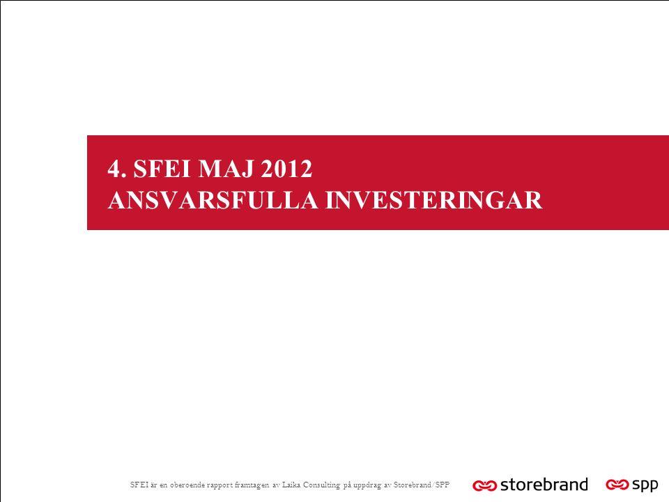 4. SFEI MAJ 2012 ANSVARSFULLA INVESTERINGAR