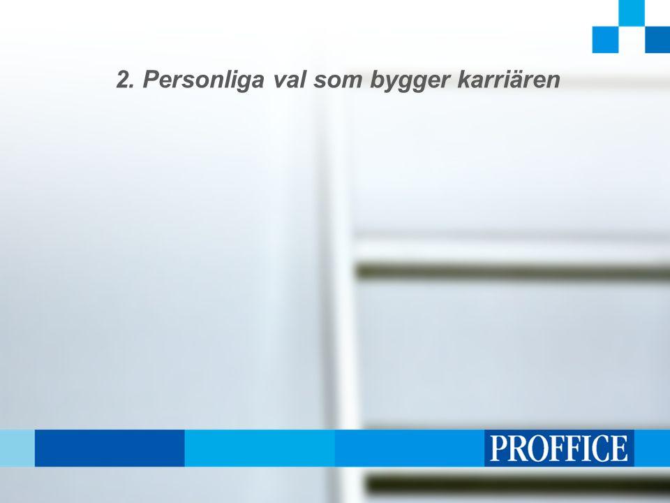 2. Personliga val som bygger karriären
