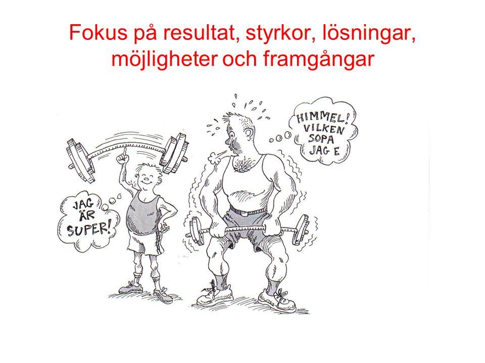 Fokus på resultat, styrkor, lösningar, möjligheter och framgångar