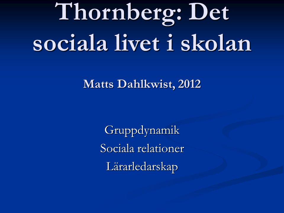 Grupptypologi m a p prestations- contra social inriktning 14 23