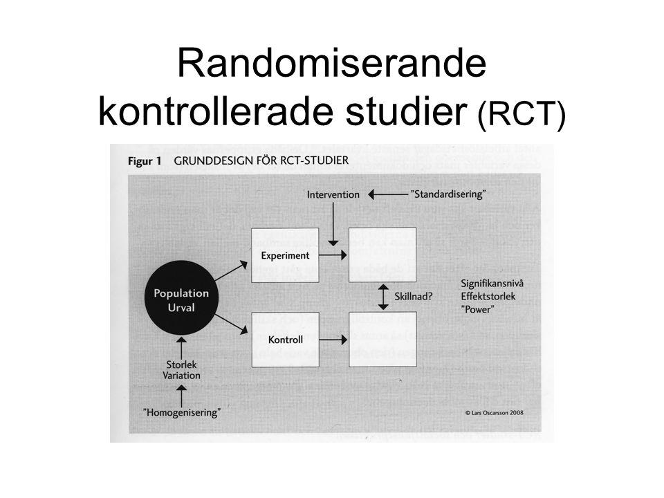 Randomiserande kontrollerade studier (RCT)