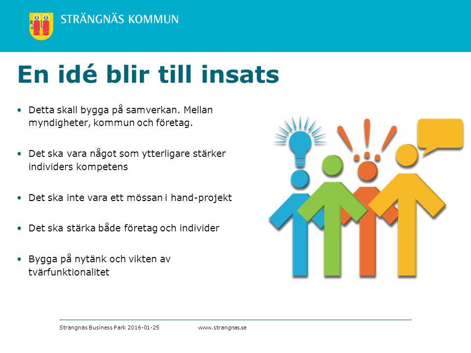 www.strangnas.se En idé blir till insats Detta skall bygga på samverkan.