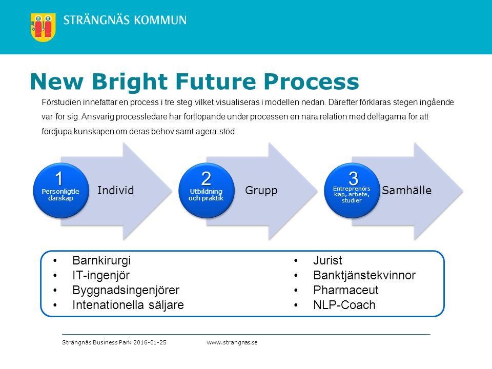 www.strangnas.se Förstudien innefattar en process i tre steg vilket visualiseras i modellen nedan.