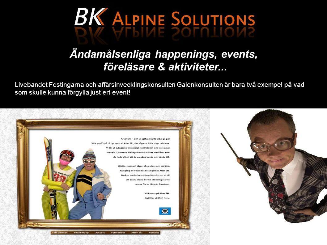 Referenser och case Svensk FastighetsförmedlingOptimeraPeak Performance 60 personer25 personer225 personer InternkonferensKundresaJubileumsresa Bad GasteinSaalbachZermatt