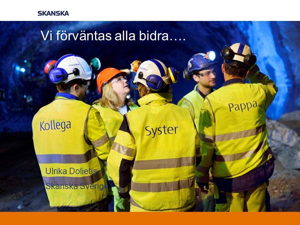 Vi förväntas alla bidra…. Ulrika Dolietis Skanska Sverige