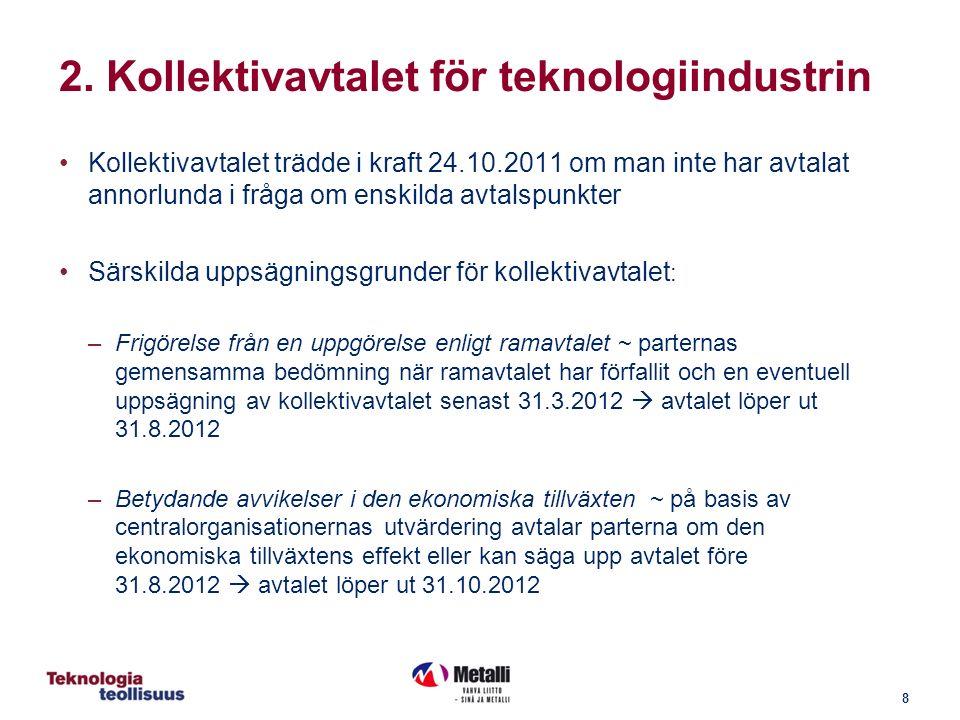 29 4.8 Exempel (1/6) fortsättning: Höjning av tidlön; uppgörelse på arbetsplatsen ALD PLD TLD ALD PLD TLD PLD 14 % PLD= 1,47 €/h SG 6: ALD = 10,53 €/h TLD = 0,37 €/h Tidlön 12,37 €/h Höjning 2,6 % PLD 14 % PLD = 1,51 €/h SG 6: ALD = 10,78 €/h TLD = 0,40 €/h Tidlön 12,69 €/h