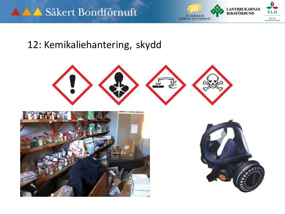 12: Kemikaliehantering, skydd