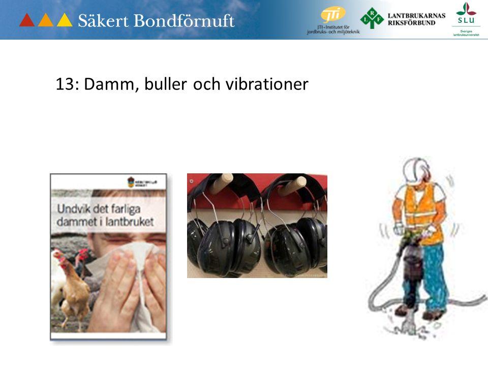 13: Damm, buller och vibrationer