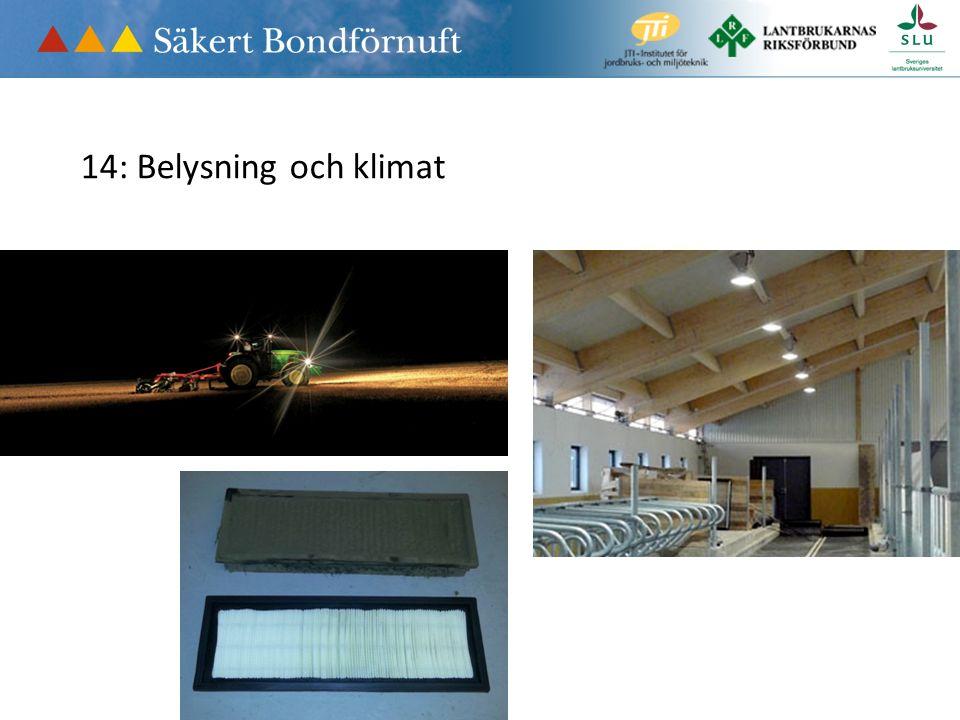 14: Belysning och klimat