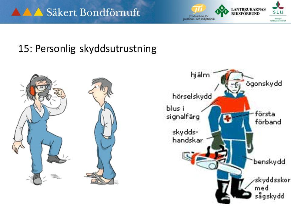15: Personlig skyddsutrustning