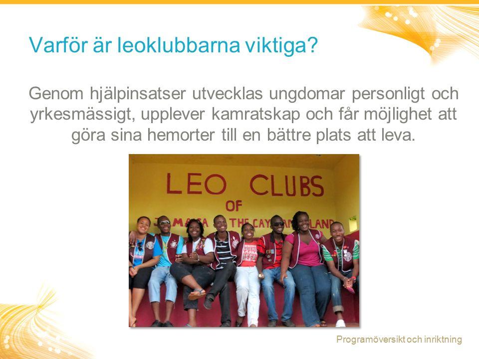 5 Positiv ungdomsutveckling: Leoklubbprogrammets inriktning Positiva erfarenheter + Positiva relationer + Positiva miljöer = Positiv ungdomsutveckling Programöversikt och inriktning