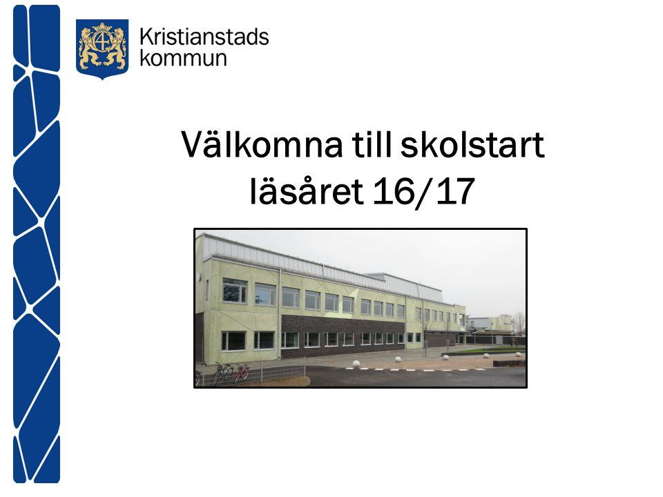 Välkomna till skolstart läsåret 16/17