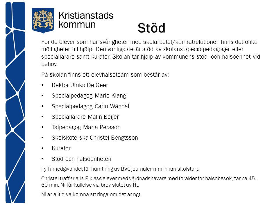 Mycket information finns på kommunens hemsida och på skolans egen hemsida www.kristianstad.se http://www.kristianstad.se/sv/Skolportaler/Hammarsskola/ Telefon: Kristianstad kommuns växel 044-13 50 00 I början på höstterminen skickar vi hem en katalog med bl.a.
