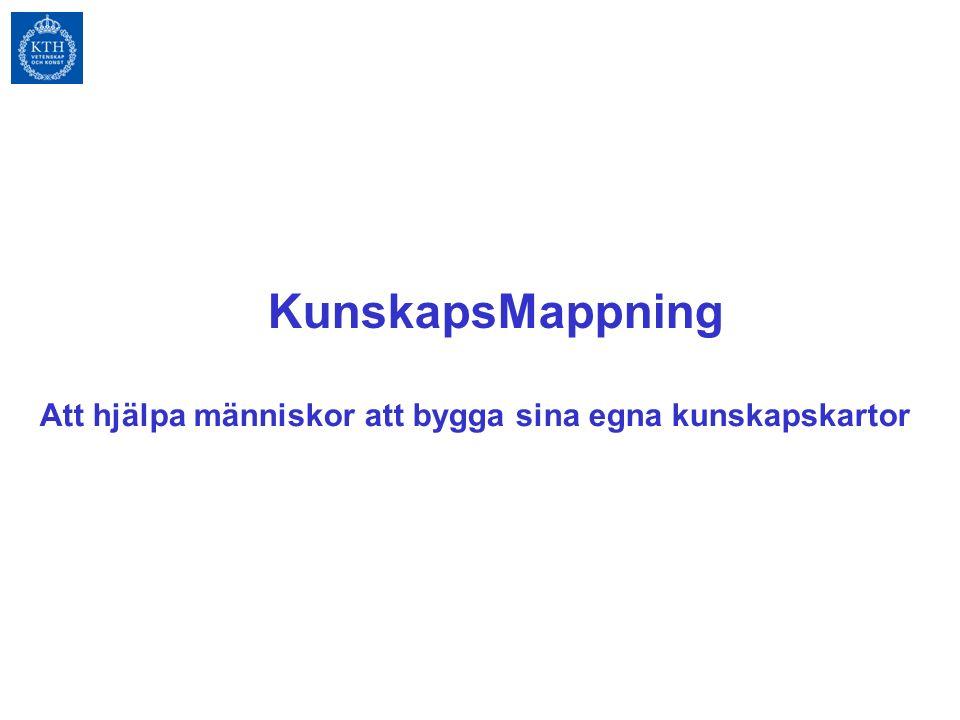 KunskapsMappning Att hjälpa människor att bygga sina egna kunskapskartor