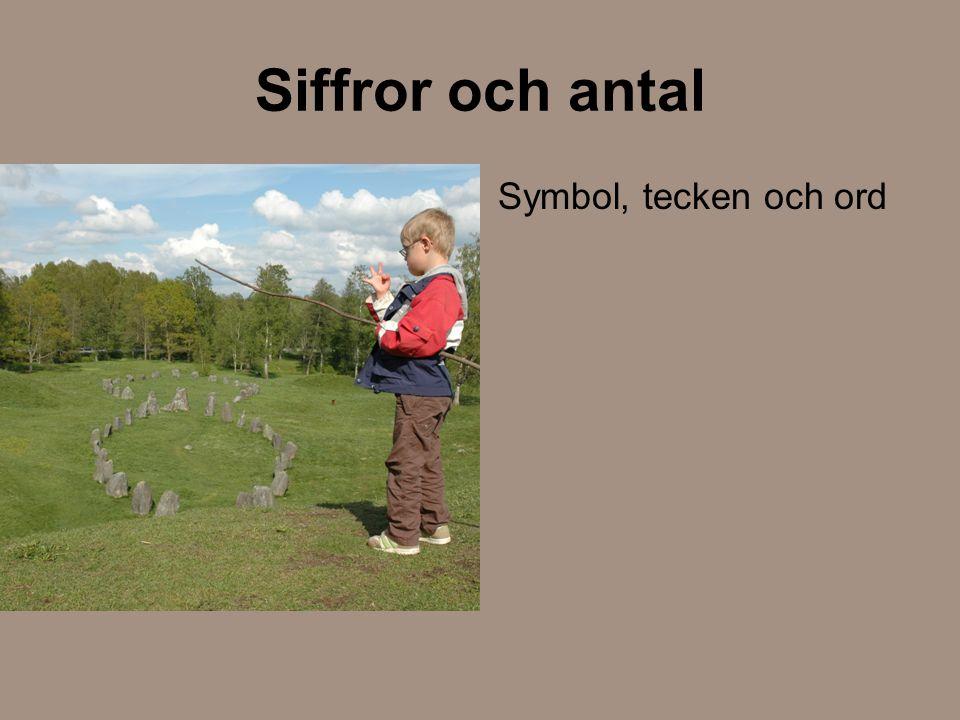 Siffror och antal Symbol, tecken och ord