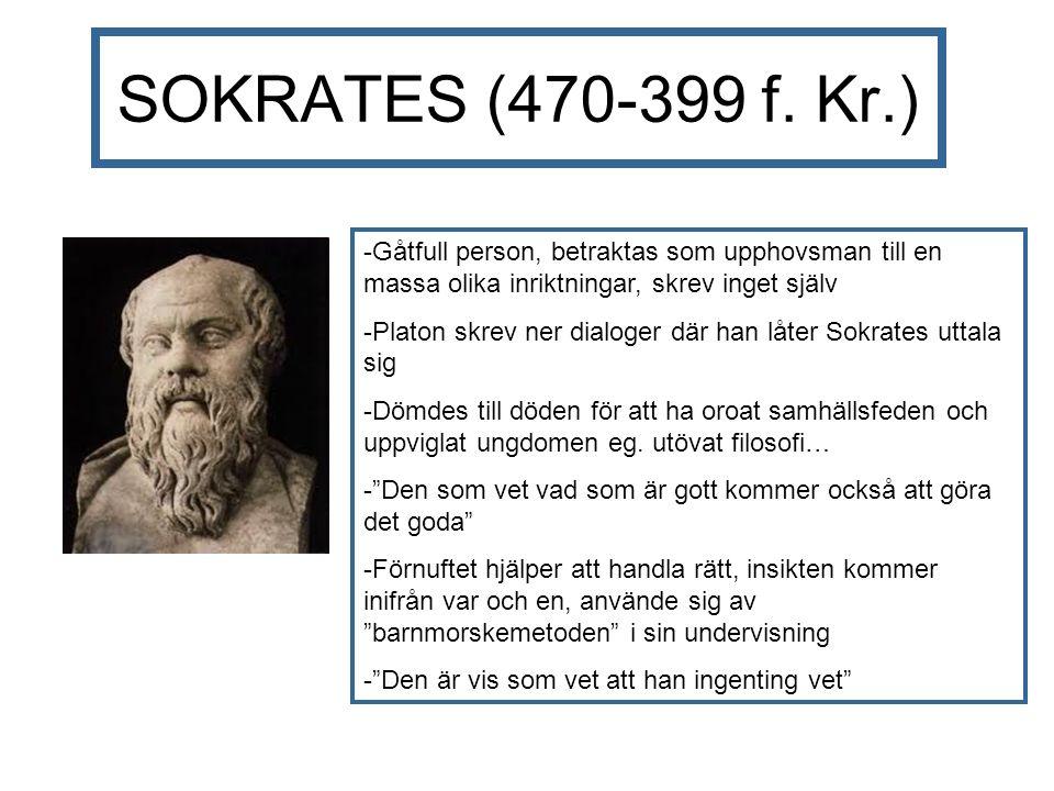SOKRATES (470-399 f.