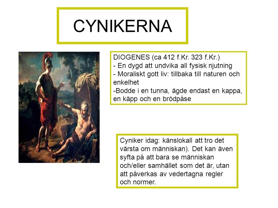 CYNIKERNA DIOGENES (ca 412 f.Kr.
