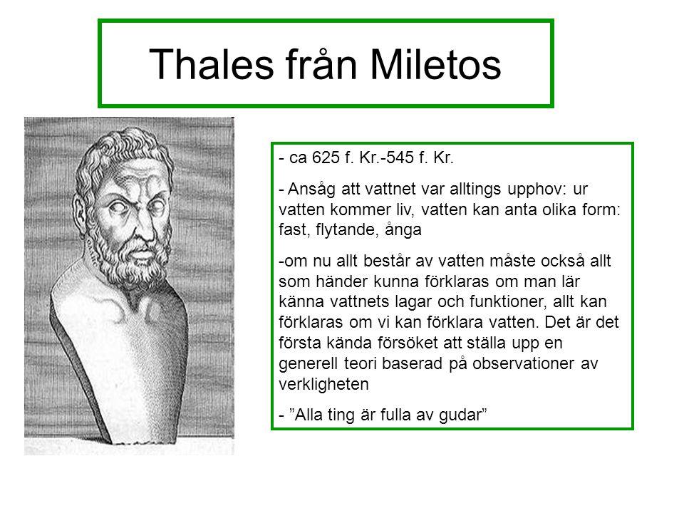Thales från Miletos - ca 625 f. Kr.-545 f. Kr.