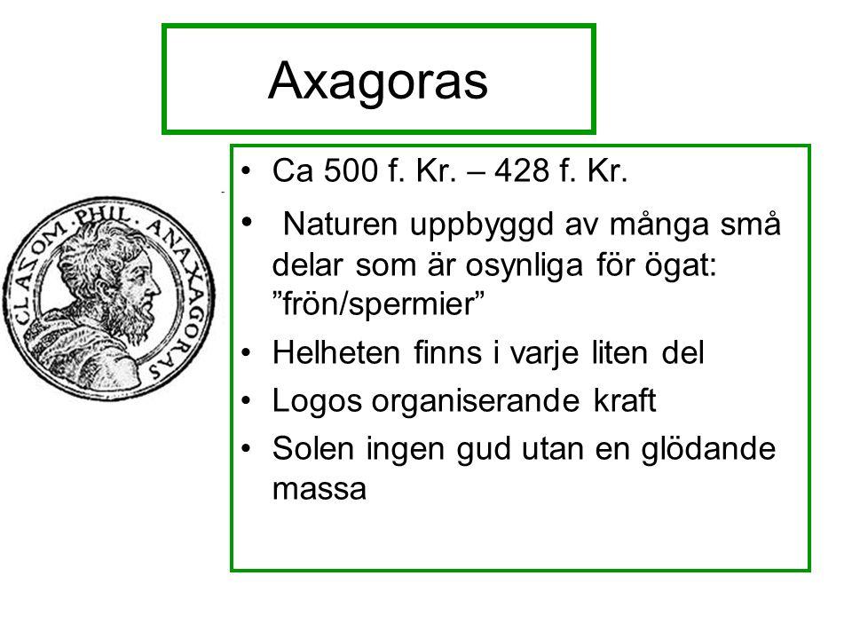 Axagoras Ca 500 f. Kr. – 428 f. Kr.