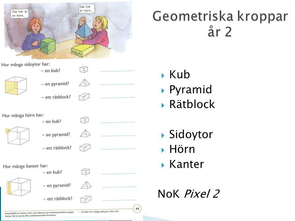  Kub  Pyramid  Rätblock  Sidoytor  Hörn  Kanter NoK Pixel 2