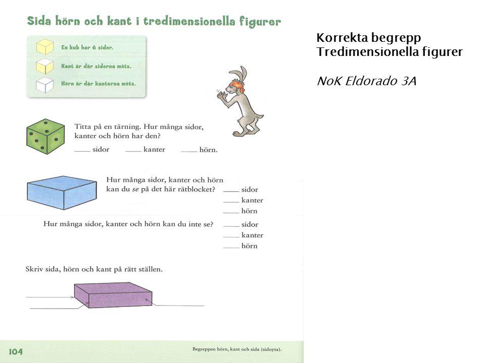 Korrekta begrepp Tredimensionella figurer NoK Eldorado 3A
