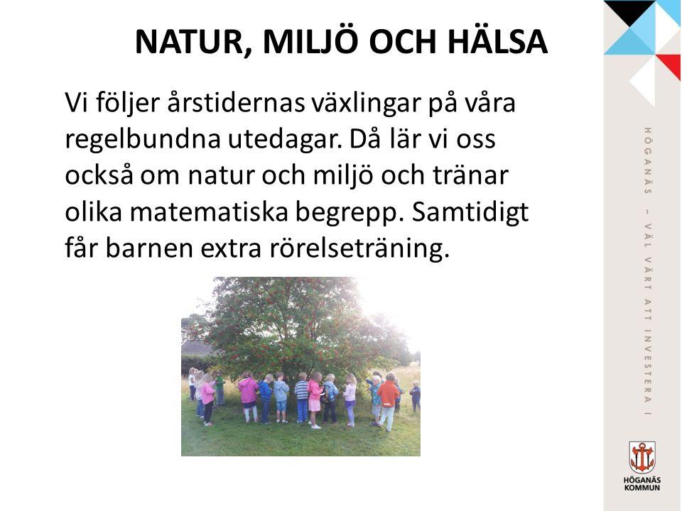 MUSIK Vi sjunger både kända och okända sånger på både svenska och andra språk och spelar på olika instrument.