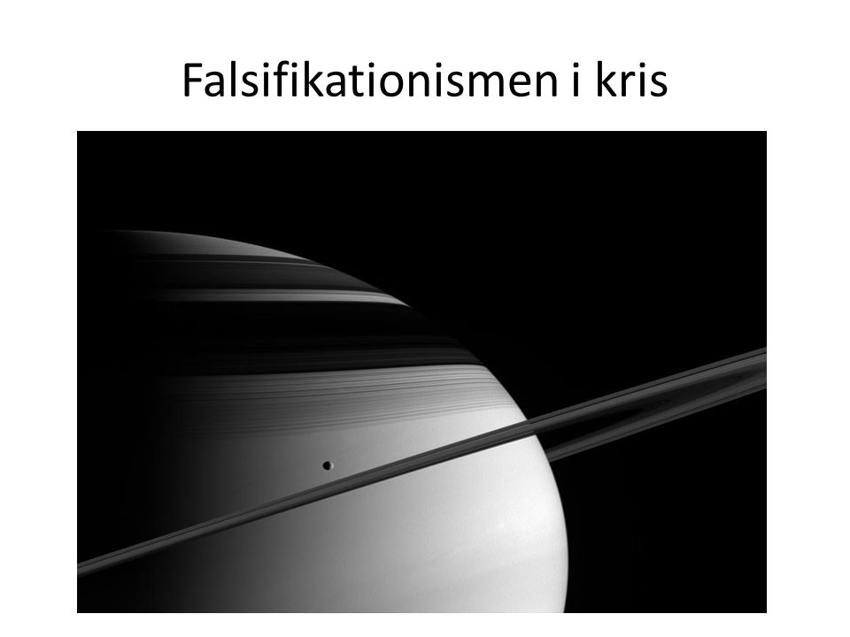 Falsifikationismen i kris