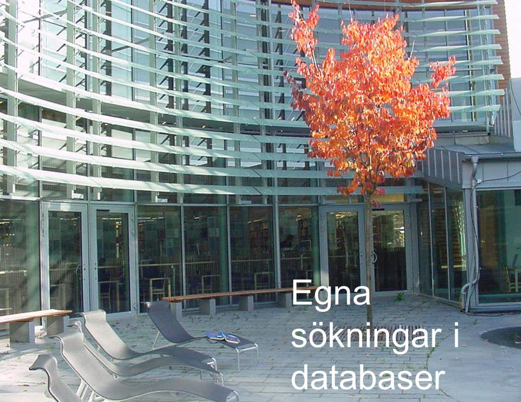 22 Egna sökningar i databaser