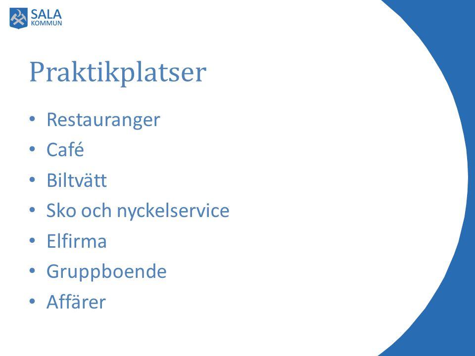 Praktikplatser Restauranger Café Biltvätt Sko och nyckelservice Elfirma Gruppboende Affärer