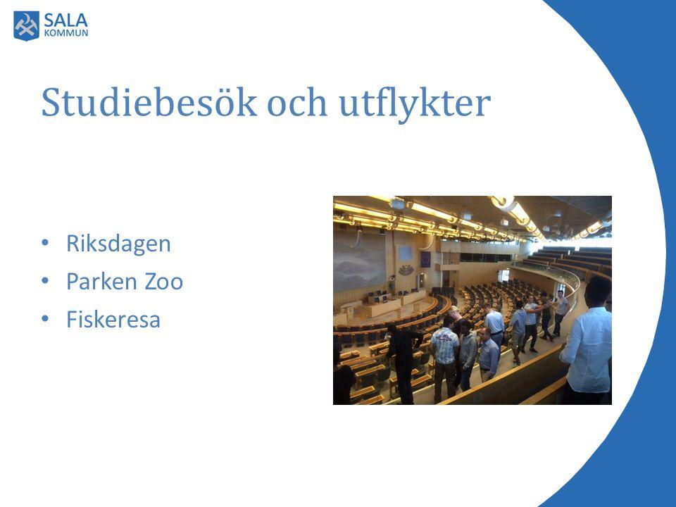 Studiebesök och utflykter Riksdagen Parken Zoo Fiskeresa
