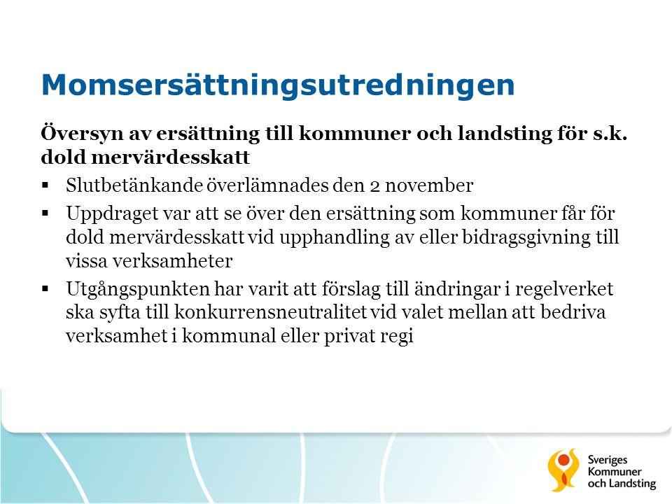 Översyn av ersättning till kommuner och landsting för s.k.
