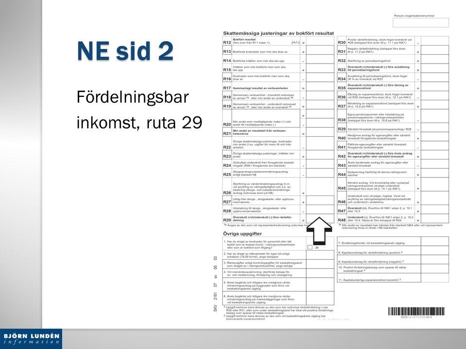 NE sid 2 Fördelningsbar inkomst, ruta 29