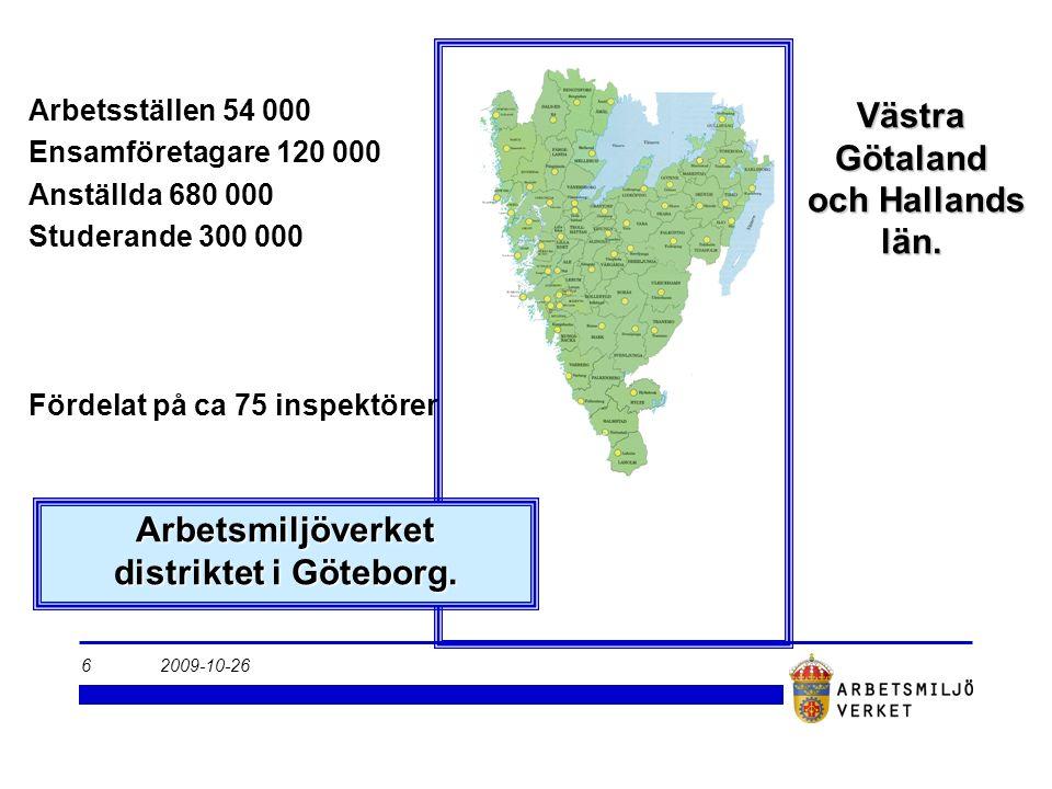 2009-10-266 Arbetsmiljöverket distriktet i Göteborg.
