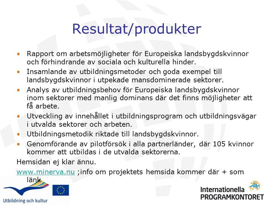 Rapport om arbetsmöjligheter för Europeiska landsbygdskvinnor och förhindrande av sociala och kulturella hinder. Insamlande av utbildningsmetoder och