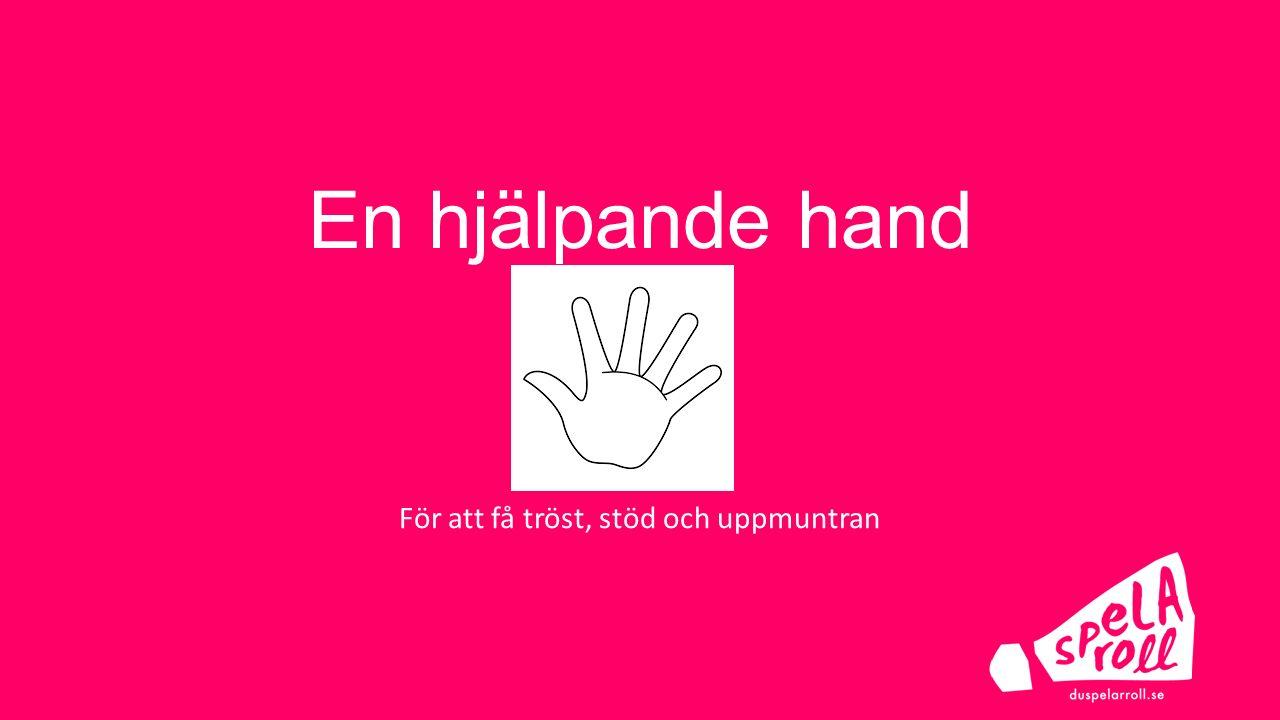 En hjälpande hand Bild på hand För att få tröst, stöd och uppmuntran