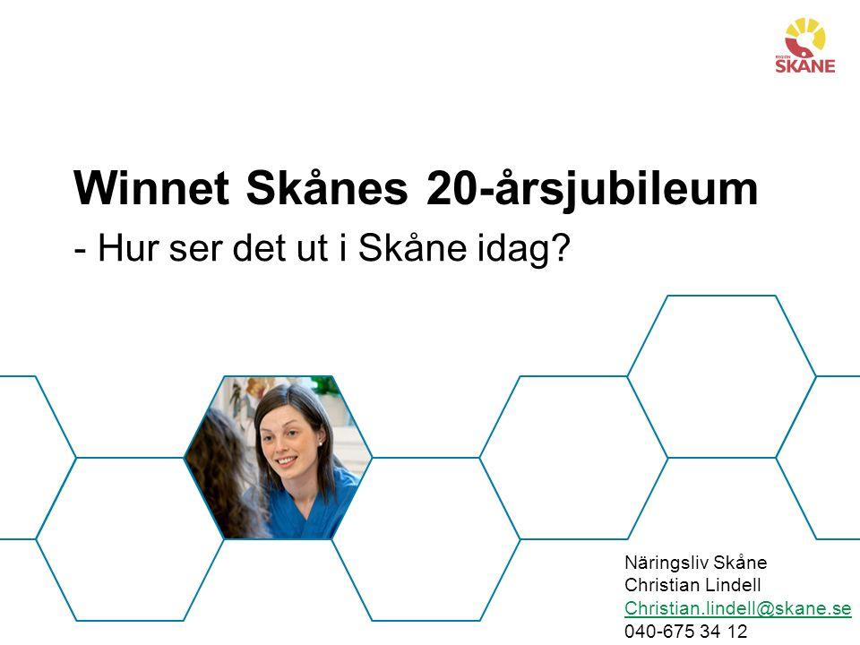 Winnet Skånes 20-årsjubileum - Hur ser det ut i Skåne idag.