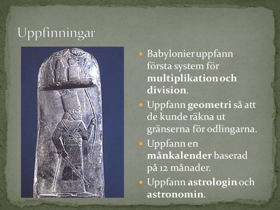 Babylonier uppfann första system för multiplikation och division.