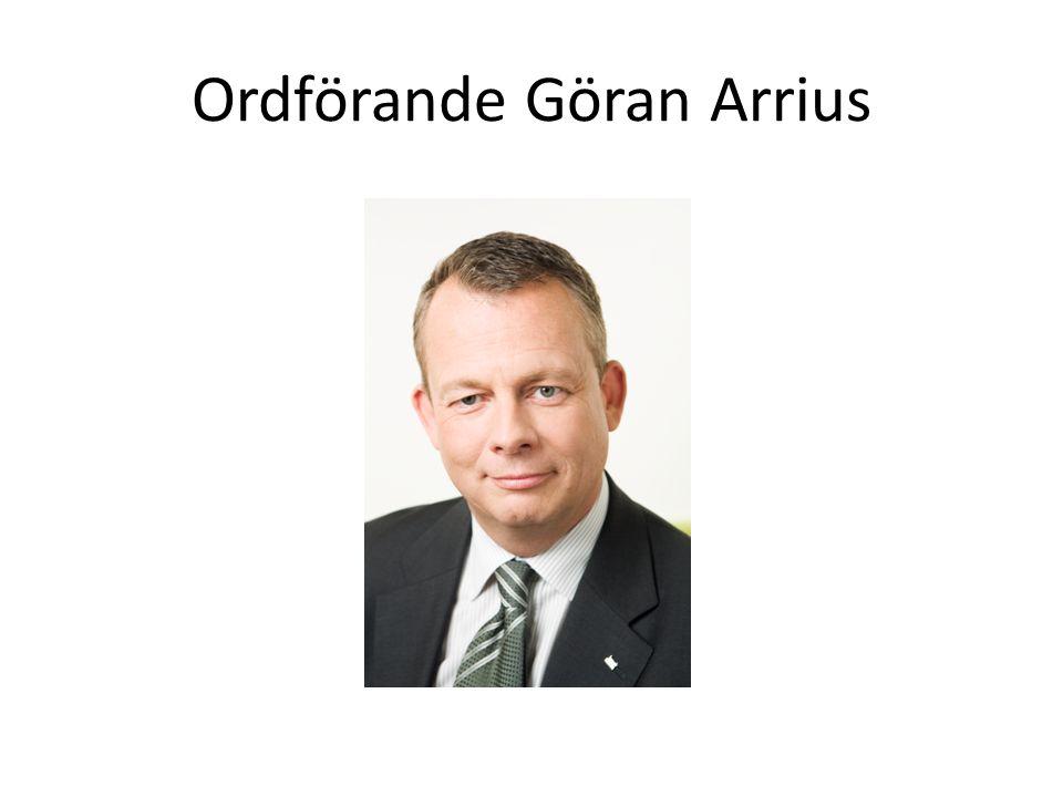 Ordförande Göran Arrius
