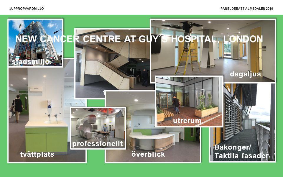 #UPPROPVÅRDMILJÖ tvättplats trappa överblick Bakonger/ Taktila fasader dagsljus utrerum stadsmiljö professionellt NEW CANCER CENTRE AT GUY´S HOSPITAL, LONDON PANELDEBATT ALMEDALEN 2016