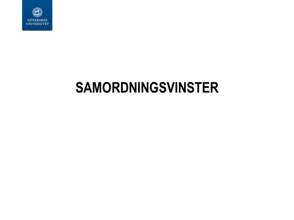 SAMORDNINGSVINSTER