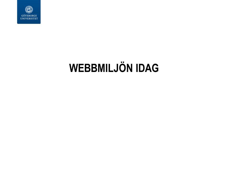 WEBBMILJÖN IDAG