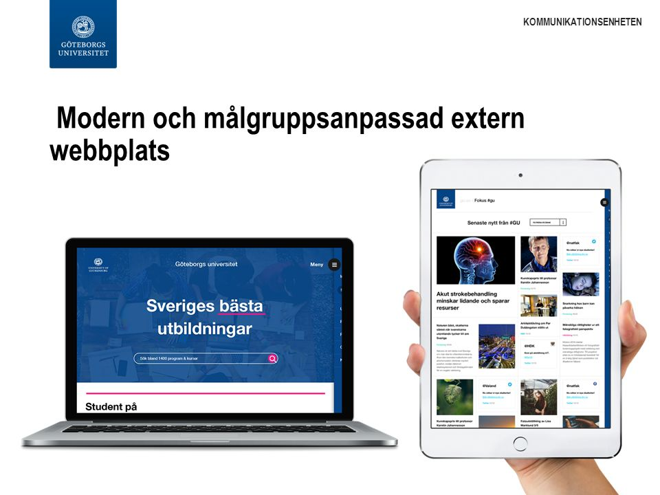 Moderniserad kurs- och programkatalog KOMMUNIKATIONSENHETEN