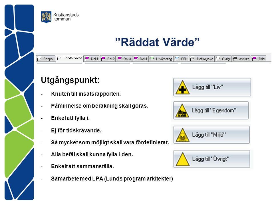 Räddat Värde Vägverkets siffror (2006).Värdet på ett Statistiskt Liv .