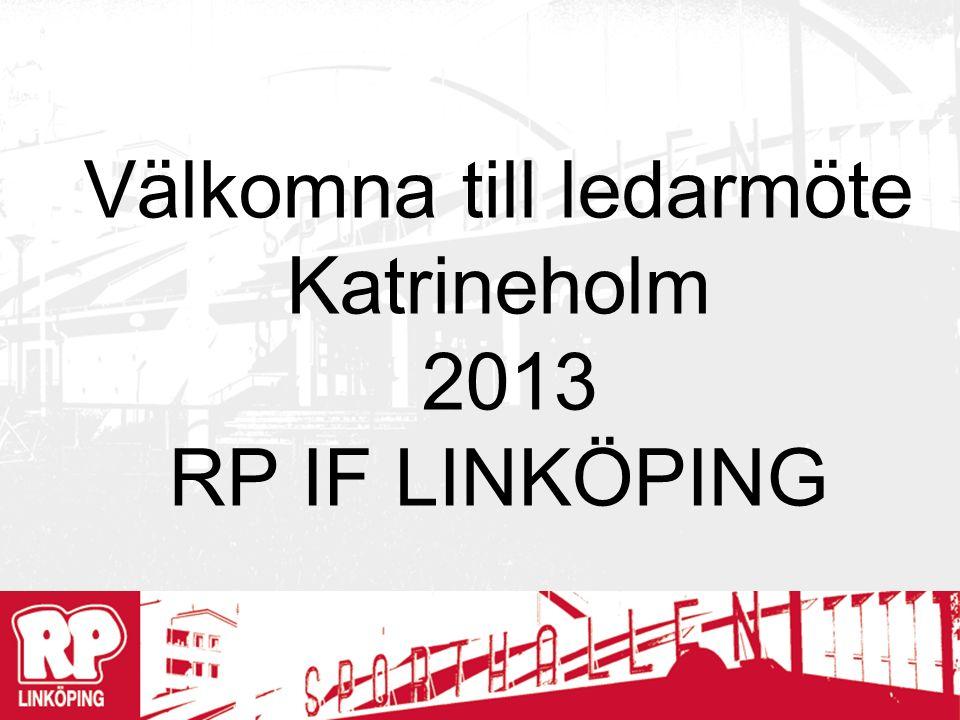 Välkomna till ledarmöte Katrineholm 2013 RP IF LINKÖPING