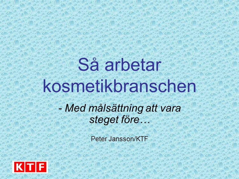 Så arbetar kosmetikbranschen - Med målsättning att vara steget före… Peter Jansson/KTF