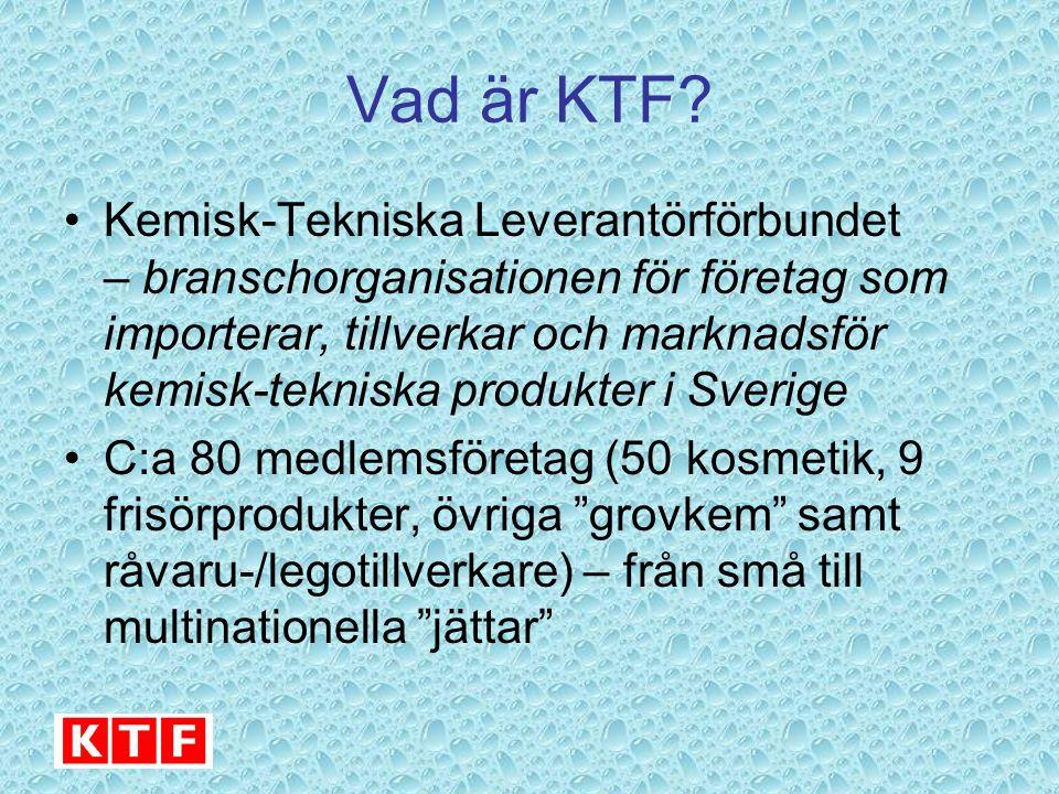 Vad är KTF? Kemisk-Tekniska Leverantörförbundet – branschorganisationen för företag som importerar, tillverkar och marknadsför kemisk-tekniska produkt