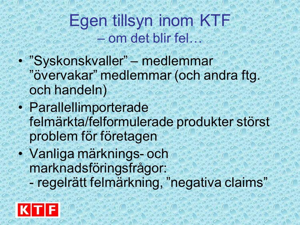 Egen tillsyn inom KTF – om det blir fel… Syskonskvaller – medlemmar övervakar medlemmar (och andra ftg.