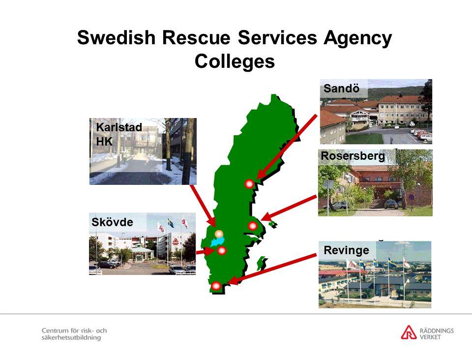 Regeringsbeslut 2002-06-27 Regeringen uppdrar åt Statens Räddningsverk att vidta de åtgärder som krävs för att införa ett nytt utbildningssystem med bland annat en tvåårig eftergymnasial utbildning i skydd mot olyckor under hösten 2003.