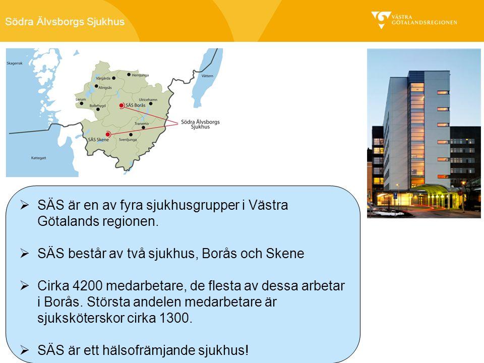 Södra Älvsborgs Sjukhus  SÄS är en av fyra sjukhusgrupper i Västra Götalands regionen.